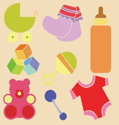 Baby new shower 2 vector