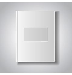 Blank book with white cover vector image vector image