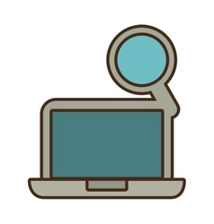 Cartoon laptop technology search design vector