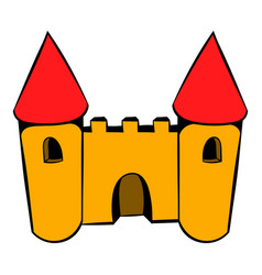 castle icon icon cartoon vector image vector image