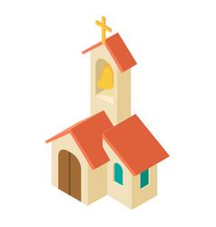 church icon isometric style vector image