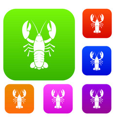 Crawfish set collection vector