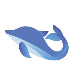 fish blue icon vector image vector image
