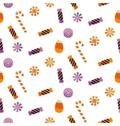 Halloween candy sweet seamless pattern vector