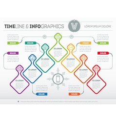 Infographic with design elements presentation of vector image vector image