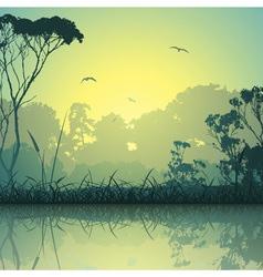 Meadow landscape vector