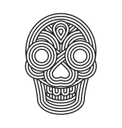 Parallel lines skull symbol vector image vector image