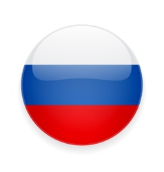Round icon with flag of Russia vector image