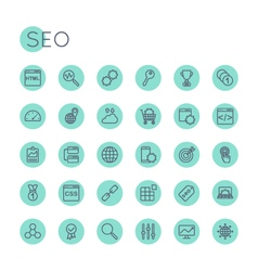 Round seo icons vector
