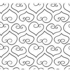 Seamless hand-drawn doodle heart background vector image vector image