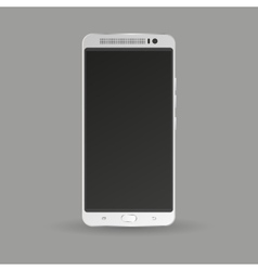 Silver smartphone isolated on grey background vector