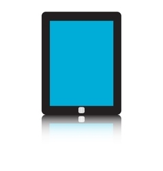 Tablet pc isolated on white background vector image vector image