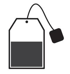 Tea bag sign tea bag icon on white background vector