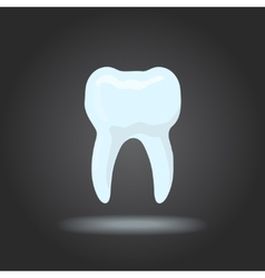 tooth silhouette Icon dental healthy vector image vector image