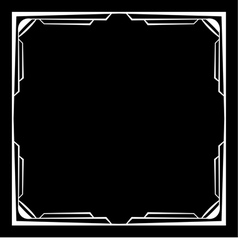 white frame on a black background vector image vector image