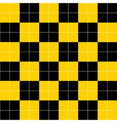 Yellow Black Chess Board Background vector image vector image