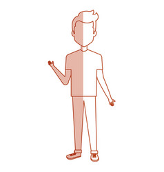 young man casual avatar vector image