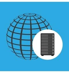 network server concept globe world vector image