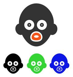 Baby head flat icon vector