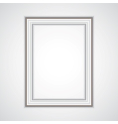 realistic plastic frame on the wall vector image