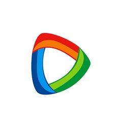 Circular abstract technology color logo vector