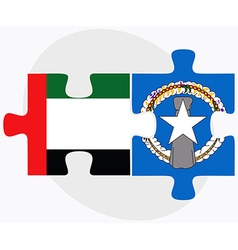 United arab emirates and northern mariana islands vector