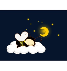 cute kid in bee costume vector image