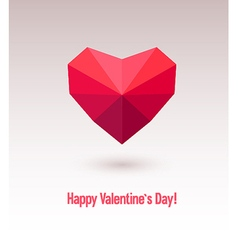 Valentines day card with abstract heart vector image