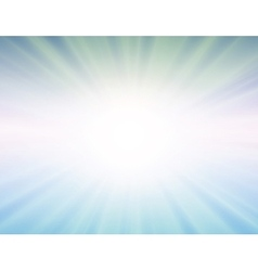 Sun on blue background vector