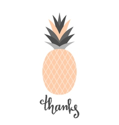 Peach pink pineapple design vector