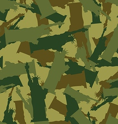 Statue of liberty military camouflage american vector