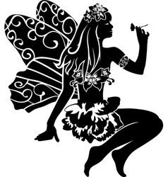 Fairy stencil vector