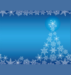 a seamless winter background with christmas tree vector image vector image