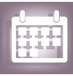 Calendar icon with shadow vector image