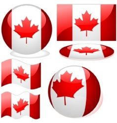 canada flags vector image vector image