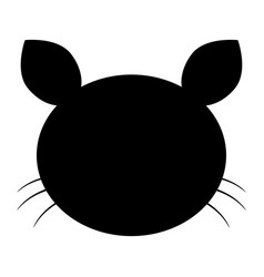 Cat head the black color icon vector