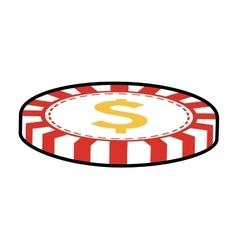 Chip casino las vegas game lucky icon vector