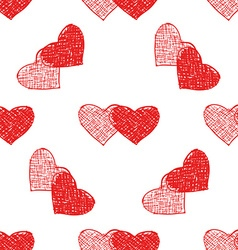 Couple of hearts pattern vector image
