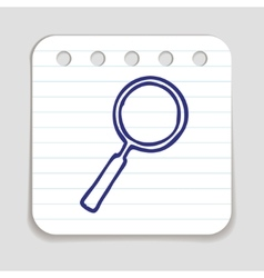 Doodle Magnifying Glass icon vector image
