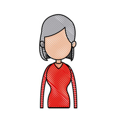 drawing portrait girl avatar fashion image vector image vector image