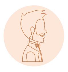 Elegant husband avatar character vector