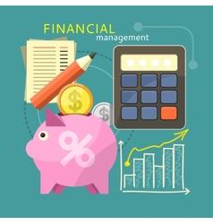 Financial Management Concept vector image