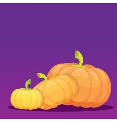 Halloween invitation border with pumpkins vector