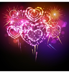 Holiday valentine firework vector