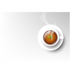 Isolated cup of coffee collection hot tea vector