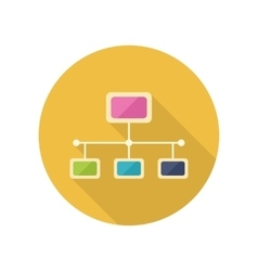 Network icon in flat style design vector