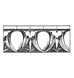 Renaissance egg-and-dart moulding round ovolo vector