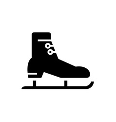 skates racing icon black vector image