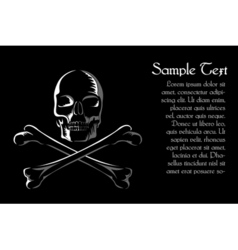 skull with cross vector image vector image