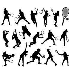 tennis player 3 vector image vector image